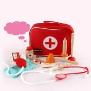 Wooden Pretend Play Role Play Doctor Toy Set For Children Medical Kit Accessorie