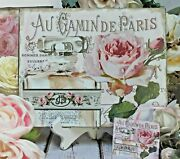 Shabby Chic Vintage French Country Cottage Style Wall Decor Sign Antique Bottle