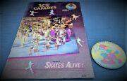Vintage Smurf Pin And Tour Book For Andldquosmurfs Alive In Ice Capadesandrdquo Peyo Clean