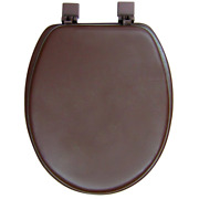 Ginsey Elongated Closed Front Soft Toilet Seat In Chocolate Brown