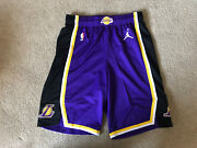 Lakers Shorts Team Issued Authentic Purple Jordan Size 38+2 Nike