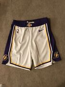 Lakers Shorts Team Issued Authentic White Size 42r Nike Pro Cut
