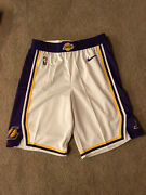 Lakers Shorts Team Issued Authentic White Size 40+2 Nike Pro Cut
