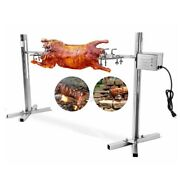 30kg Spit Roaster Rotisserie Pig Lamb Roast Bbq Portable Outdoor Camping Grill
