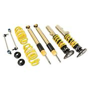 For Volkswagen Gti 15-16 Coilover Kit 0.6-1.8 X 0.8-2 St Xta Plus 3 Front And