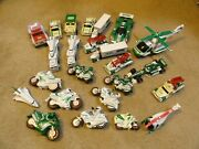 Lot Of 26 Hess Truck Pcs - Motorcycles Helicopter Shuttles Etc. See Pics