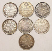 Canada 5 Cents Silver Lot Collection Mixed Dates 1903-1913