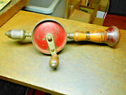 Vintage Defiance By Stanley Eggbeater Hand Drill No. 1220 Woodworking Tool