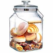2 Gallon Wide Mouth Glass Jars With Lids Heavy Duty Glass Canisters With