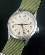 Vintage Wwii Wittnauer By Longines 11es Military 15j Stainless Mens Watch Runs