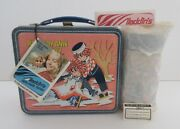 1973 Rare Non Embossed Raggedy Ann Andy Lunchbox Thermos Mint Unused Tags N.o.s