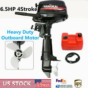 6.5hp 4 Stroke Outboard Motor Marine Boat Engine With Water Cooling Cdi Hangkai