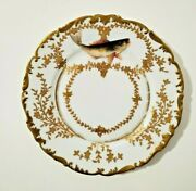Rare Limoges Depose For Ovington Bros Plate W/ Gold Decorations And Fish 9
