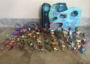 Big Lot Of 54 Littlest Pet Shop Lps,accesories And House With Elevator