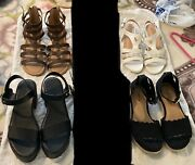 Lot Of 4 Women's Torrid And Other Shoes, Wide Width, New And Used. Sizes 8-8.5
