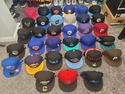 Lot Of 33 Total New Era Fitted Hats Size 7 3/8 Used