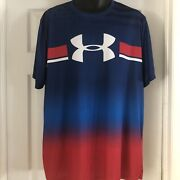 Under Armour Usa Menand039s Shirt Loose Heat Gear 2xl Rare - Home Of The Brave