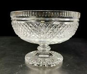 Waterford Crystal Clear Glass Castletown 7-3/8 Compote Pedestal Footed Bowl