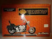 Harley Davidson Heritage Softail Corded Telephone Complete With Phone Cord