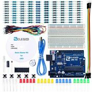 Uno Professional Starter Kit With Tutorial,uno R3 Compatible With Arduino Us New