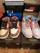 Size 11 Nike Dunk Mid Social Status Free Lunch Chocolate And Strawberry Milk Pack