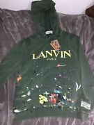 Lanvin X Gallery Dept Hoodie - Green Exclusive Painted - Size L - Rare Receipt