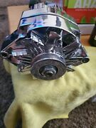 New Alternator Chrome Racer, Hot Rod Fits Chevy Gm 110amp 3-wire. Made In Usa.