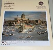 Wentworth Wooden Puzzle London Thames St Paul's Cathedral Canaletto 750 Pieces