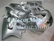 Silver Injection Body Kit Fairing Fit For 1997-1998 Honda Cbr600 F3 Mold Abs Add