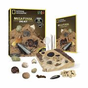 National Geographic Mega Fossil Dig Kit Excavate 15 Real Fossils Including