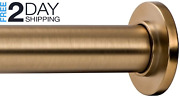 Ivilon Tension Curtain Rod For Windows Or Shower 54 To 90 Inch. Warm Gold