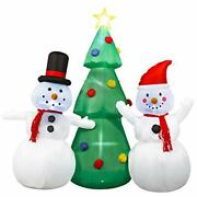 8ft Christmas Inflatable Tree With Snowman Outdoor Inflatable Christmas