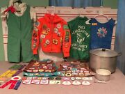 Large Lot Girl Scout - Patches Badges Cadet Girl Scouts Clothing Vintage Lot