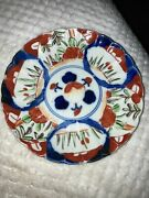 Six Japanese Hand Painted Plates 6-1/2andrdquo Diameter W Makers Stamp Estate Find