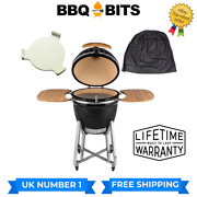 Kamado Bbq 21 Grill Place Setter And Cover Smoker Ceramic Egg Charcoal Outdoors