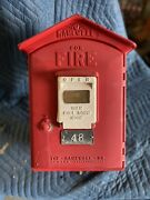 Vintage Gamewell Fire Dept Alarm Box W/ Key And All Insides