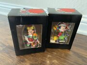 Disney Britto 2014 Mickey Mouse And Minnie Christmas Figurine Showcase Collectible