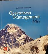 Operations Management By William J Stevenson Used