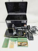 Vtg Rare Unused Cond 1951 Singer Featherweight 221 Sewing Machine Case Serviced