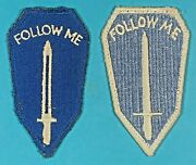 Post Ww 2 Infantry Center And School Insignias2 Both Full Emb. Exc. Cond