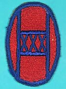 World War 2 30th Infantry Division Ssi Full Emb. Exc. Cond. 5