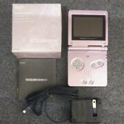 Nintendo Gameboy Advance Sp Pearl Pink W/genuine Charger Tested Gba Game W/box