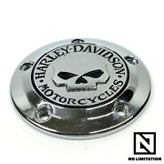 Genuine Harley Oem Touring Twin Cam Willie G Skull Timing Timer Points Cover