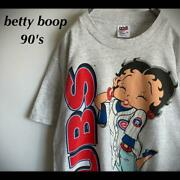 '90s Betty Boop Betty Boop T-shirt Chicago Cubs Large Format Print