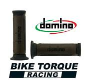 Domino A350 Brown / Grey Open End Road Touring Grips To Fit Suzuki Gs1000 E / S
