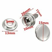 30pcs Snap-button Stainless Steel Canvas Cap Screw Kit For Tent Boats Ships