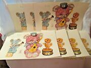 Vtg 7 Sheets 13x8,5 Meyercord Nursey Decals Plush Bears And Chick 21 Decals
