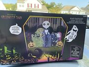 Disney Nightmare Before Christmas Jack Sally Oogie Light Up Yard Sign Sold Out