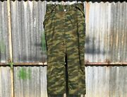 Genuine Russian Army Vsr-98 Flora Camouflage Lined Winter Combat Trousers Xl/xxl
