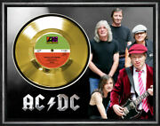 Ac/dc - Whole Lotta Rosie - Framed And Mounted Gold 45rpm 7 Single